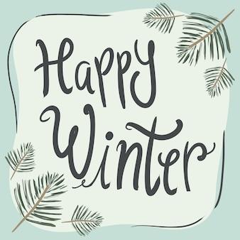 Glückliche wintergrußkarten