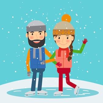 Glückliche winterzeit
