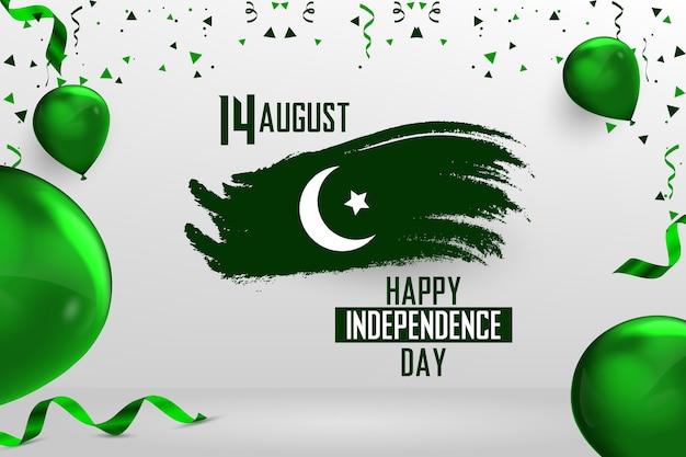 Glücklicher 14. august pakistanischer unabhängigkeitstag
