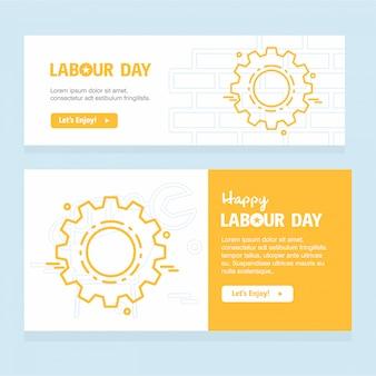 Glücklicher arbeitstagesentwurf mit gelbem themavektor