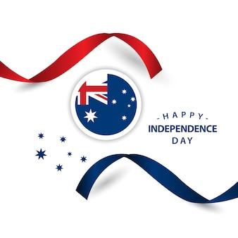 Glücklicher australien-unabhängiger tag