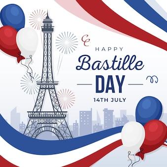 Glücklicher bastille-tag 14. juli