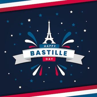 Glücklicher bastille-tag mit sternen