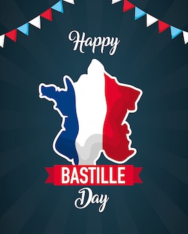 Glücklicher bastille-tag