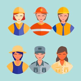 Glücklicher beruf arbeiter tag 1 kann symbol beschäftigen