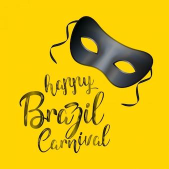 Glücklicher brasilianischer karneval