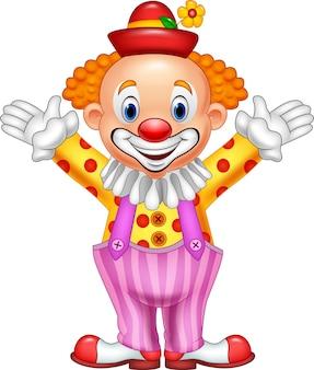 Glücklicher clown der karikatur
