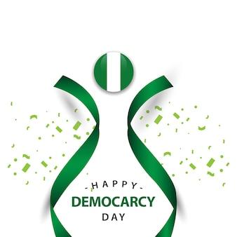 Glücklicher demokratie-tagesvektor-schablonen-entwurf
