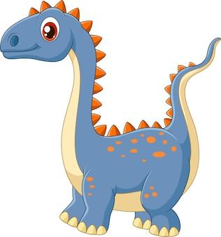 Glücklicher dinosaurier der karikatur