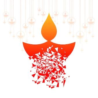 Glücklicher diwali celebrationi dekorativer hintergrund