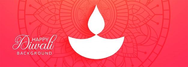 Glücklicher diwali hinduistischer feiertag für helle festival diwali fahne