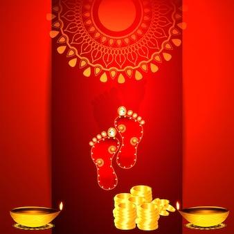 Glücklicher diwali-hintergrund der kreativen vektorillustration