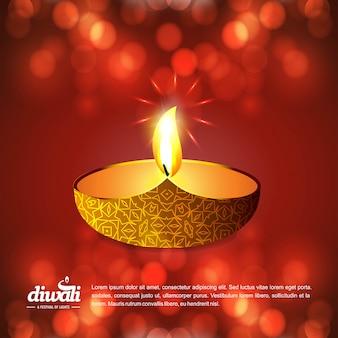 Glücklicher diwali hintergrund