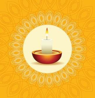 Glücklicher diwali inder-feier-entwurf