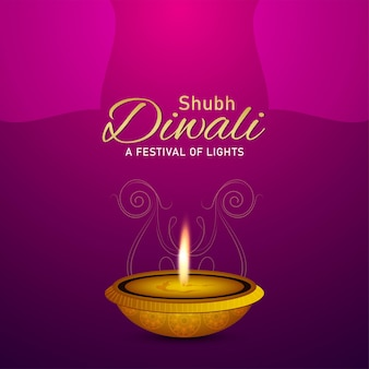 Glücklicher diwali indischer festivalkartenhintergrund