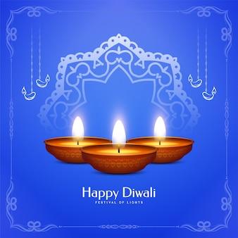 Glücklicher diwali traditioneller festivalhintergrund-entwurfsvektor