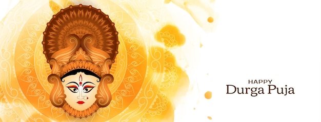 Glücklicher durga-puja- und navratri-festivalhintergrundvektor