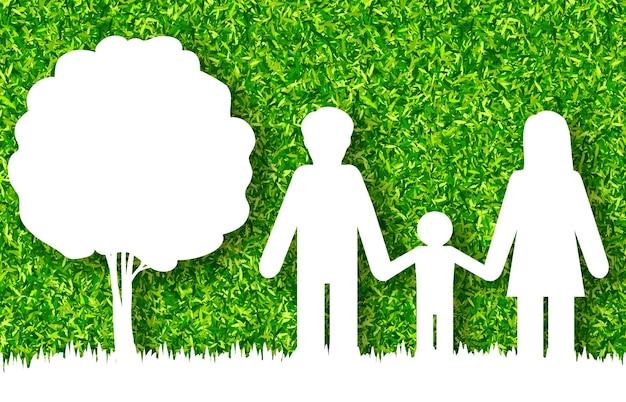 Glücklicher familienkonzeptvektorhintergrund