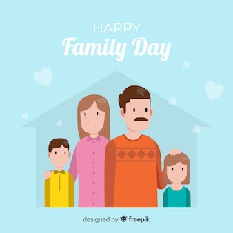 Glücklicher familientag