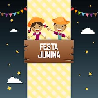 Glücklicher festa junina hintergrund