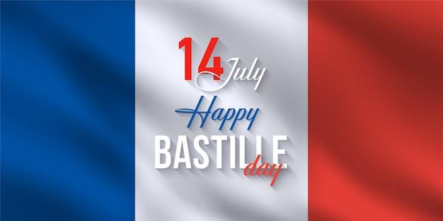 Glücklicher frankreich-bastille-tag