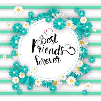 Glücklicher freundschafts-tag logo greeting card friends holiday banner