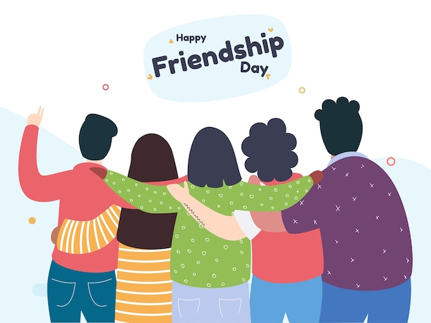 Glücklicher freundschaftsgruß