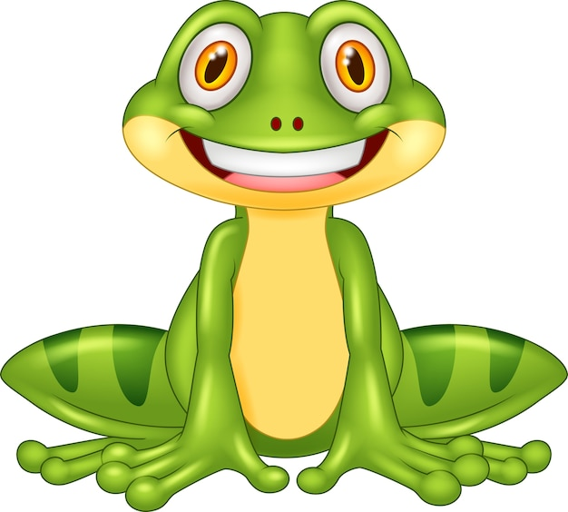 Glücklicher frosch der karikatur