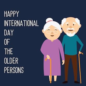 Glücklicher großartiger elterntag für konzept der älteren personen