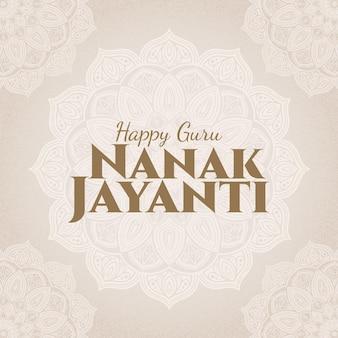 Glücklicher guru nanak jayanti schriftzug