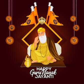 Glücklicher guru nanak jayanti