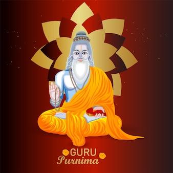 Glücklicher guru purnima feier hintergrund