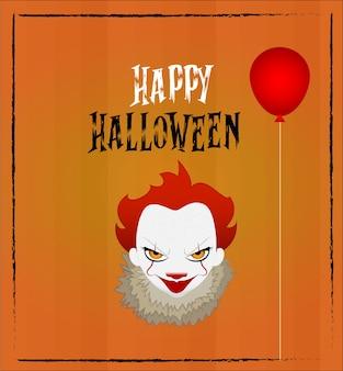 Glücklicher halloween clown