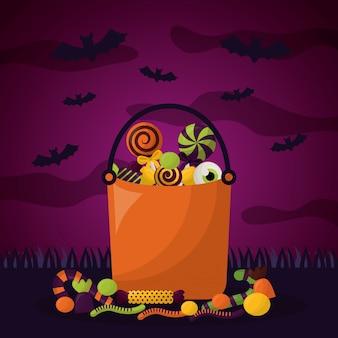 Glücklicher halloween-feiertag