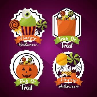 Glücklicher halloween-feiertagessatz