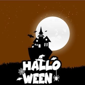Glücklicher halloween-furchtsamer nachthintergrund