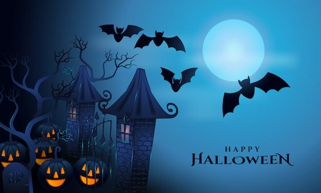 Glücklicher halloween-grußhintergrund