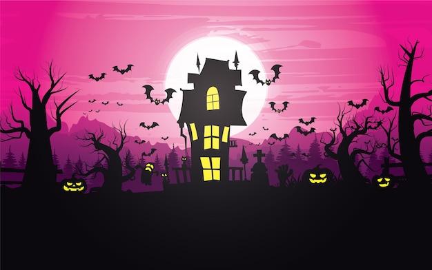 Glücklicher halloween-hintergrund, halloween.