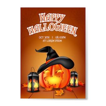 Glücklicher halloween-hintergrund realistisch