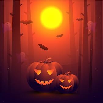 Glücklicher halloween-hintergrund.