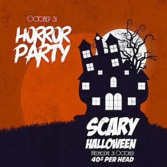 Glücklicher halloween-horror-partyhintergrund