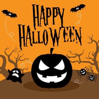 Glücklicher halloween-illustrations-vektor