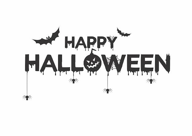 Glücklicher halloween-kürbis, fantasie, nacht, schädel, schloss, vampir, text für karte