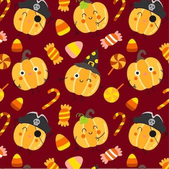 Glücklicher halloween-mustervektor.