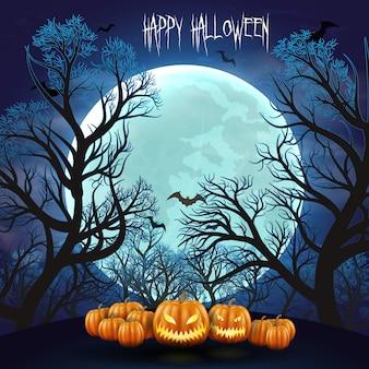 Glücklicher halloween-nachthintergrund