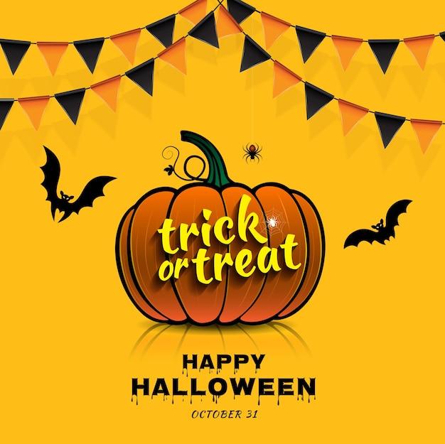Glücklicher halloween-party süßes sonst gibt's saures kürbis