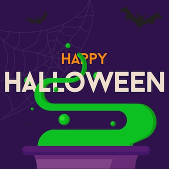 Glücklicher halloween-textvektorhintergrund oder fahnengraphik