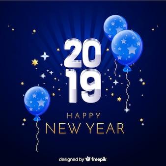 Glücklicher hintergrund des neuen jahres 2019