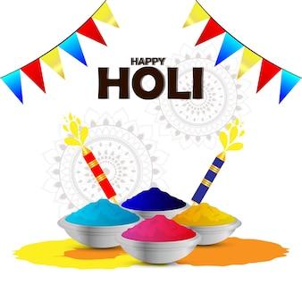 Glücklicher indischer festivalhintergrund holi holi