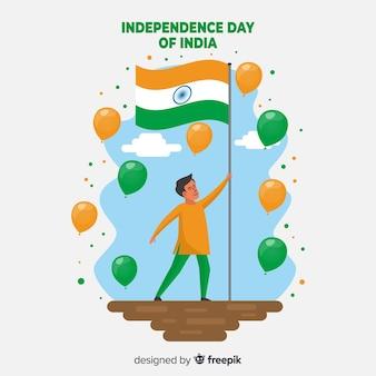Glücklicher indischer unabhängigkeitstaghintergrund